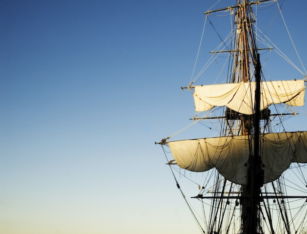 The mast of an old galleon...but is it a haunted galleon?