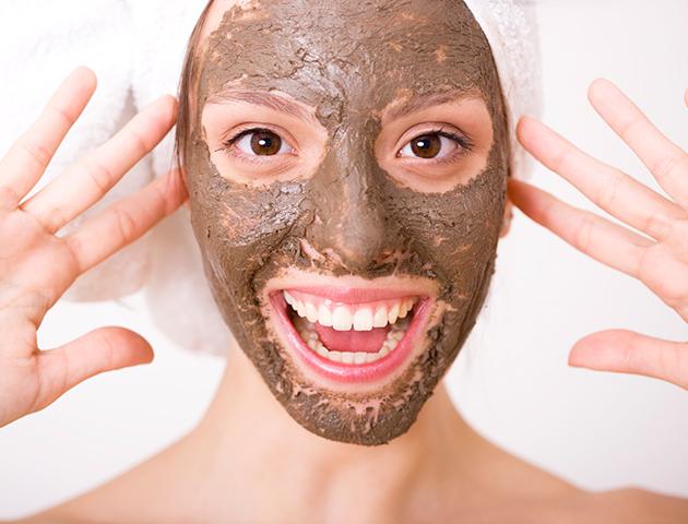 bargain beauty: woman wearing face mask