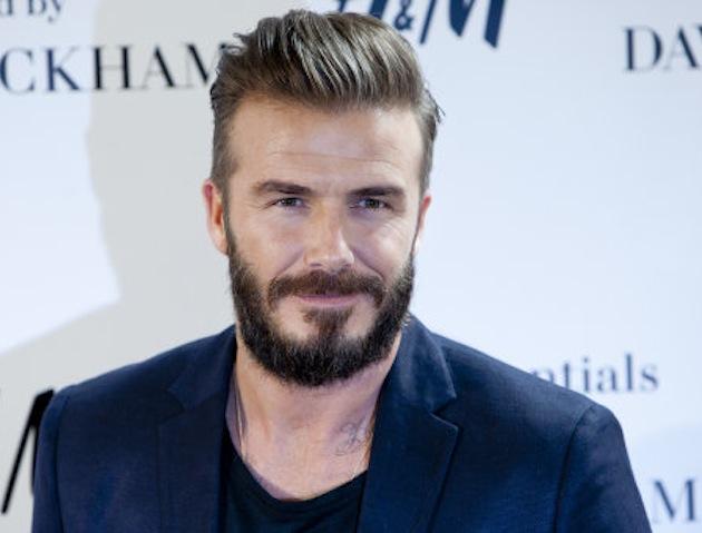 David Beckham with beard