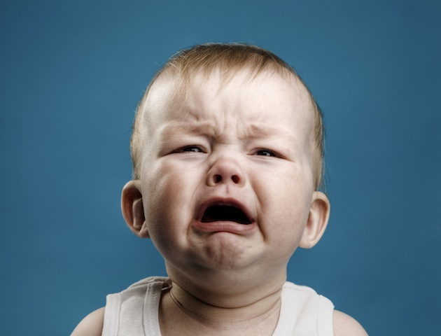 Baby crying - he wants to be clued Gary