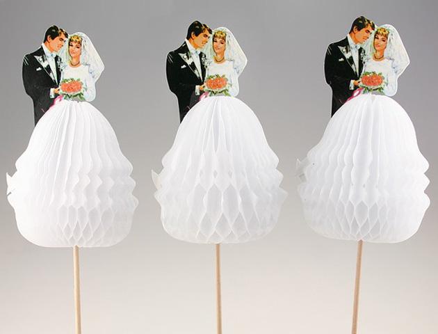 1 Bride Groom Tail Sticks By Pipii Wacky Wedding