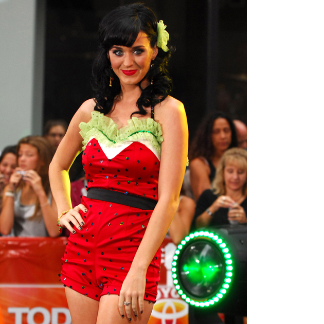 Katy Perry outfits watermelon playsuit