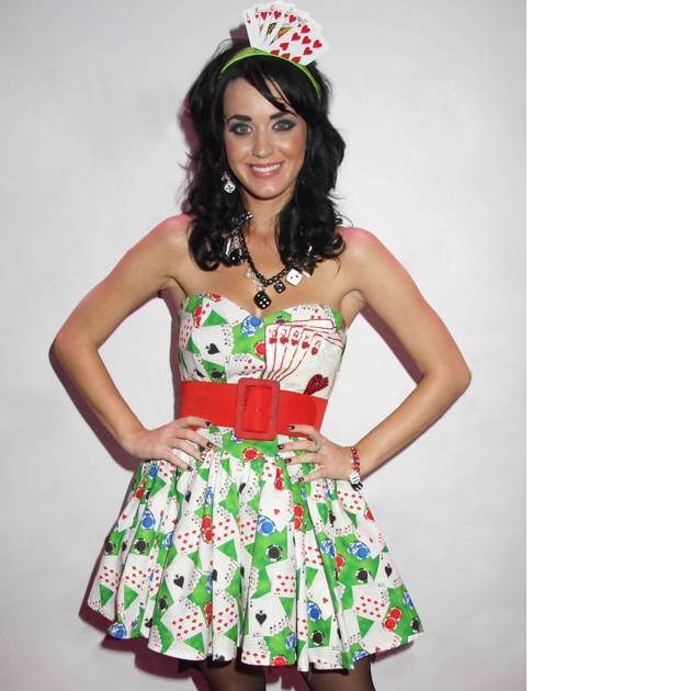 Katy Perry playing cards dress
