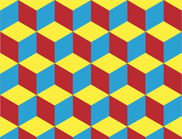 block optical illusion