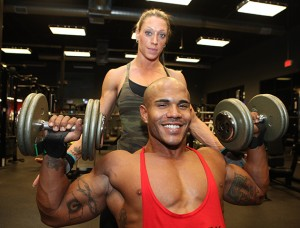 The couple are no strangers to the gym!