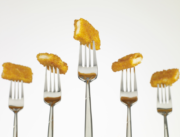 image of fish fingers on forks