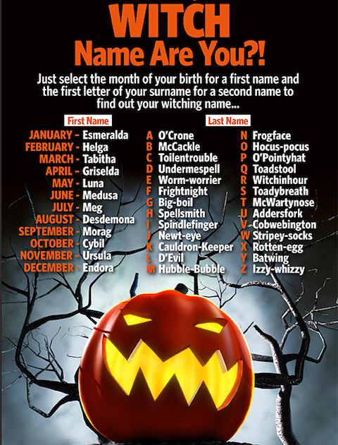 Whats Your Witch Name