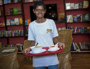 Ritu is just one of the women helped by the cafe