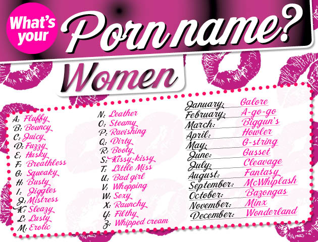 porn names for girls