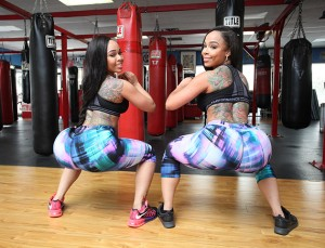 Michelle and Miriam's workout plan includes an eye-watering number of squats