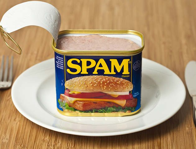 Spam on a plate
