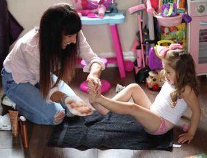 Adult baby girl spanking