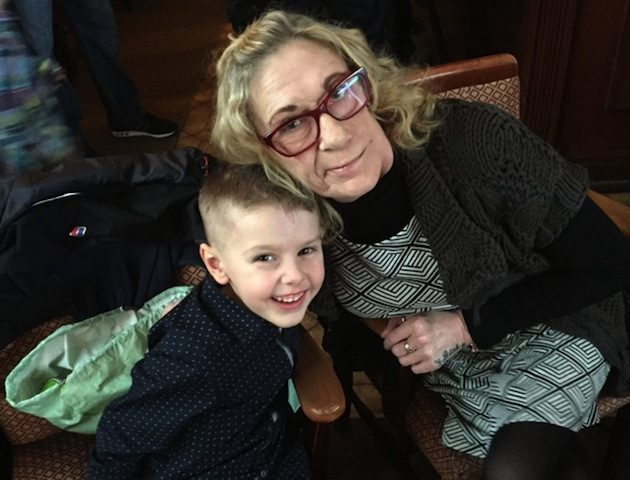 Jack with his nan, Maggie