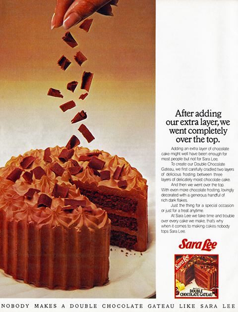 Sara Lee Double Chocolate Gateau Life Death Prizes