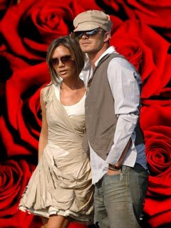 Beckhams and roses
