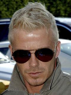 David Beckham goes blond