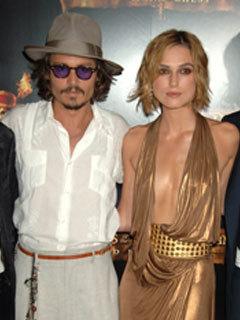 Johnny Depp: Kissing Keira Knightley was awkward