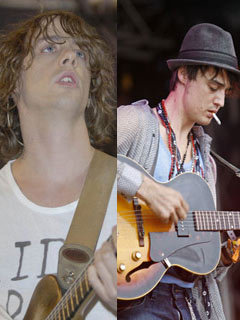 Johnny Borrell and Pete Doherty