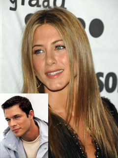 Jennifer Aniston and Paul Sculfor
