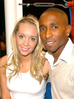 Charlotte Meares and Jermain Defoe