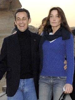 French President Nicolas Sarkozy and Italian model and singer fiancee Carla Bruni