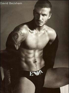 David beckham models for Emporio Amarni underwear