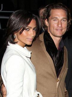 Matthew McConaughey and girlfriend Camila Alves