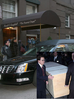 Heath Ledger's coffin leaves funeral home - CelebsNow