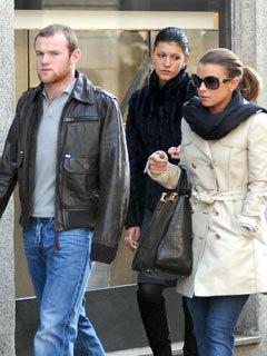 Coleen McLoughlin and Wayne Rooney shopping in Milan