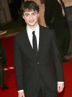 Daniel Radcliffe looks smart in black and white