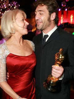 Helen Mirren and Javier Bardem swap Oscar stories