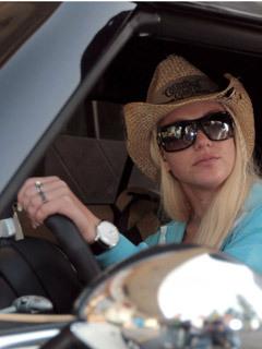 Britney Spears behind the wheel
