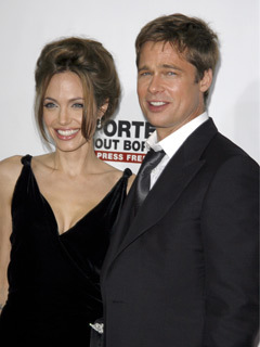 Angelina Jolie and Brad Pitt at A Mighty Heart film premiere, New York, America - 13 Jun 2007