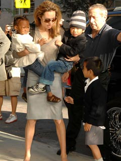 Angelina Jolie plays mum