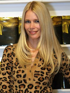 Claudia Schiffer goes wild for leopard print