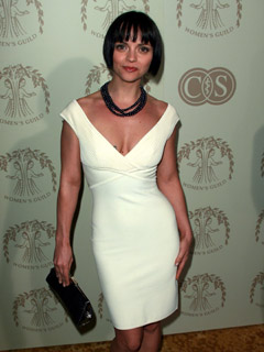 Christina Ricci dazzles in white