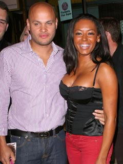 Stephen Belafonte and Melanie Brown show a united front
