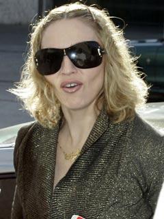 Madonna hides behind her shades
