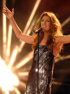 Celine Dion sings her heart out