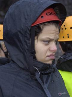 Jade Goody doesn't look happy