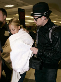 Nicole Richie and Joel Madden show off baby Harlow