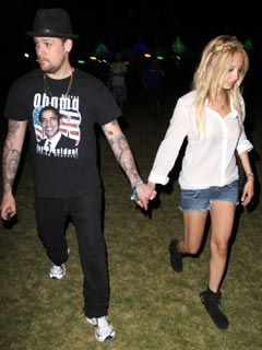 Nicole Richie and Joel Madden work the festival look