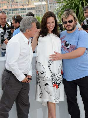 Angelina Jolie, Jack Black and Dustin Hoffman