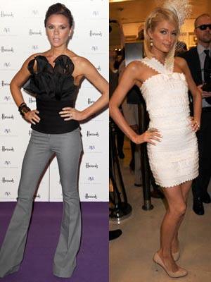 Paris Hilton and Victoria Beckham
