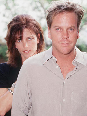 Actor Keifer Sutherland and ex-wife Elizabeth Kelly Winn