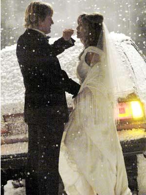 Jennifer Aniston and Owen Wilson get married on set