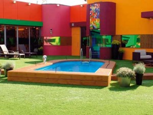 The multicoloured garden looks inviting