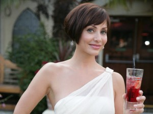 Natalie Imbruglia promotes her product