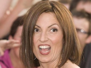 Davina McCall looks shocked
