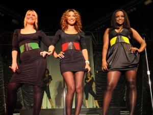 Heidi Range, Keisha Buchanan and Amelle Berrabah look beautiful in black as they perform at the Isle Of Wight Festival in Newport.